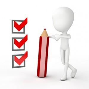 Checkliste und abgeharkt